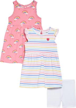 Little Me Rainbow Dresses & Shorts Set