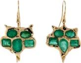 Lucifer Vir Honestus Emerald Owl Earrings