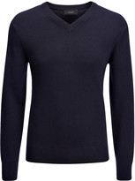 Cashmere 12gg V Sweater In Navy