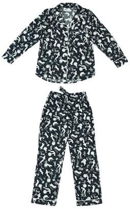 Phriya Women's Navy Blue Odyssey Long Pajama Set
