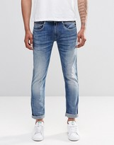 Replay Anbass Slim Jeans Super Stretch Mid Wash