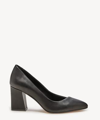 Sole Society Women's Capra Flare Heeled Pumps Black Size 5 Suede From