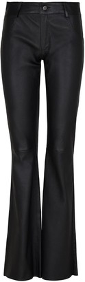 Elle.Sd Leather Flared Trousers
