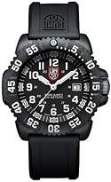 Luminox Navy SEAL Colormark Men's Quartz watch with Black dial featuring LLT light Technology 44 millimeters Carbon Compound case and Black PU Strap XS.3051