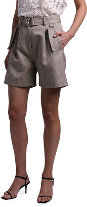 MSGM Belted Flap-Pocket Bermuda Shorts