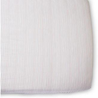Pehr Stripes Away Crib Sheet - Petal