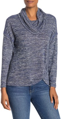 Democracy Long Sleeve Side Twist Cowl Neck Sweater