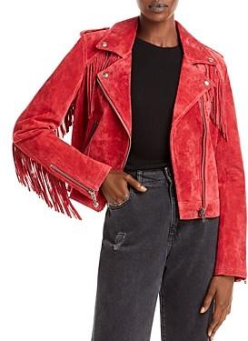 Blank NYC Fringed Moto Jacket