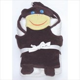 Under the Nile Bath Time Favorites Hooded Towel and Wash Cloth Set, Monkey (Discontinued by Manufacturer)
