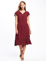Old Navy Tiered Flutter-Sleeve Dress for Women