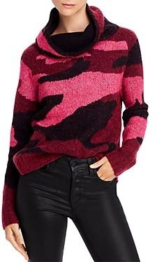 Aqua High/Low Camouflage Turtleneck Sweater - 100% Exclusive
