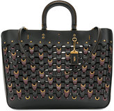 Coach chain link woven tote