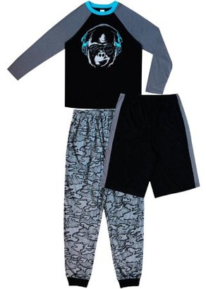 Jellifish Kids Boys 3-Piece Printed Pajama Set Sizes 4-16