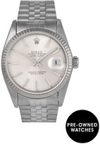 Rolex Pre-Owned Datejust Silver Baton Dial Stainless Steel Mens Watch Ref 16014