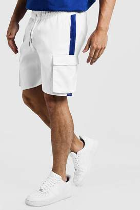 boohoo Drawstring Cargo Shorts With Side Tape