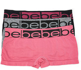 Bebe Women's Underwear cosmo - Pink & Black Boyshorts Set - Women