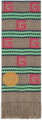 Gucci Capri striped modal silk stole
