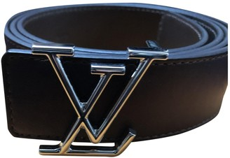 Louis Vuitton Initiales Brown Leather Belts