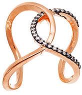 Lord & Taylor Cubic Zirconia Interlocked Cuff Ring