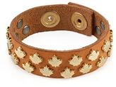 Dsquared2 Maple Leaf Leather Cuff Bracelet