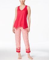 Oscar de la Renta Asymmetrical-Hem Pajama Set