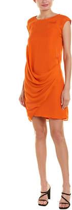 Heather Layered Asymmetrical Silk Shift Dress