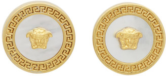 Versace Gold Mother-Of-Pearl Tribute Earrings