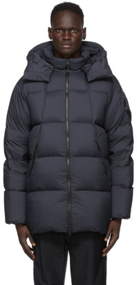 Goldwin Navy Down Hooded Spur Coat