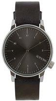 Komono 'Winston Regal' Quartz Stainless Steel and Leather Dress Watch, Color:Black (Model: KOM-W2264)