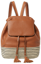 Rebecca Minkoff Mansfield Small Leather & Straw Backpack