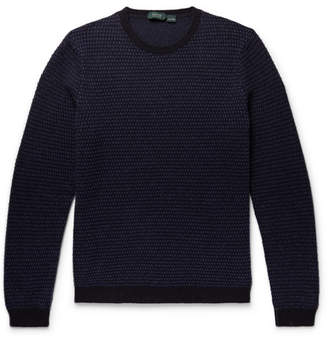 Incotex Birdseye Virgin Wool-Jacquard Sweater