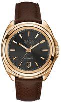 Bulova Men's Accu Swiss Automatic Leather Watch - 64B126