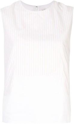Hermes Pre-Owned Stripe Sleeveless Vest