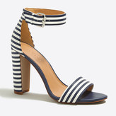 J.Crew Factory Striped chunky-heel sandals