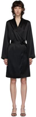 La Perla Black Short Silk Robe
