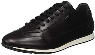 Geox U Clemet a, Men's Low-Top Sneakers, Black (Blackc9999), (45 EU)