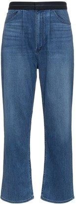 3x1 Contrast Waist Wide-Leg Jeans