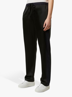 French Connection Safiana Jogger Trousers, Black/Utility Blue