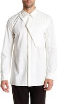 Helmut Lang Storm Flap Uniform Long Sleeve Trim Fit Shirt