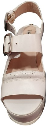 Carven White Leather Sandals