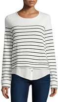 Soft Joie Lakelyn Mariner-Stripe Long-Sleeve Combo Top