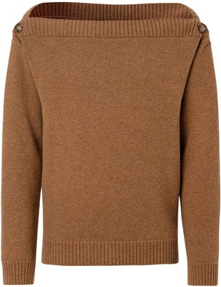 Burberry Boat Neck Wool Sweater