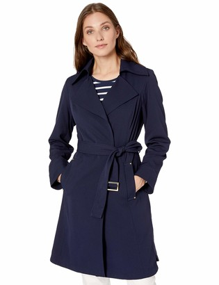 Vince Camuto Women's Belted Trench Coat Rain Jacket