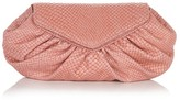 Diana Snakeskin-Embossed Leather Clutch