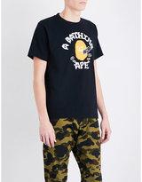 A Bathing Ape Pumpkin Logo-print Cotton-jersey T-shirt
