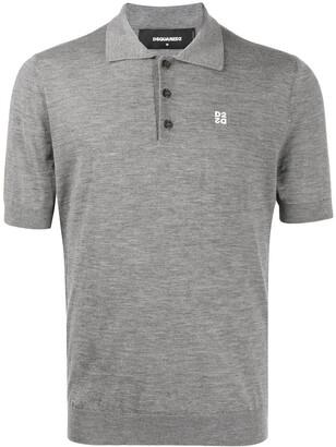 DSQUARED2 Logo-Print Short-Sleeved Polo Shirt