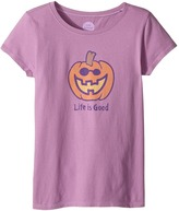 Life is Good Jack O'Lantern LIG Crusher Tee Girl's T Shirt