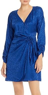 Parker Linda Cheetah Print Faux-Wrap Dress