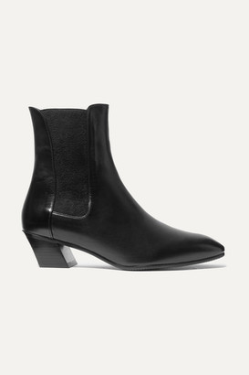 Stuart Weitzman Cleora Leather Chelsea Boots - Black