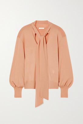 Chloé Tie-detailed Wool Sweater - Beige